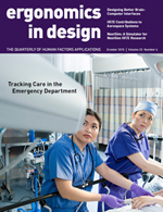 Ergonomics in Design: The Quarterly of Human Factors Applications