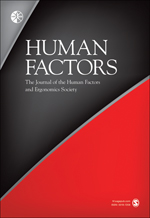 HHuman Factors: The Journal of the Human Factors and Ergonomics Society